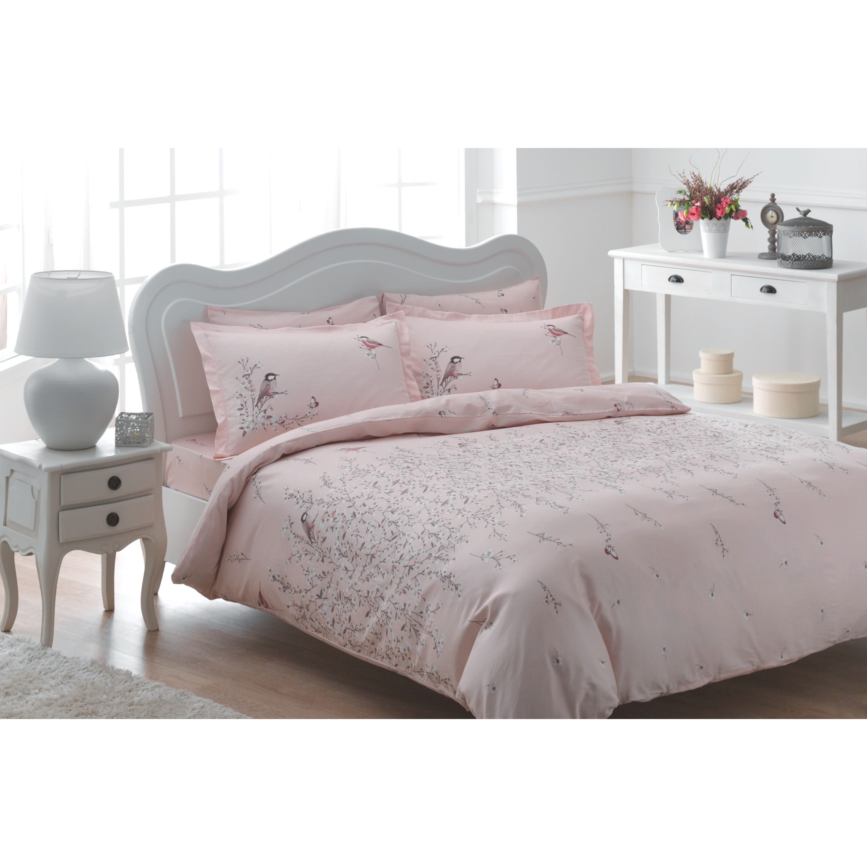 Brielle Rayon From Bamboo Green Twill Eden 3 Piece Duvet Cover Set With Giftable Box Pink King