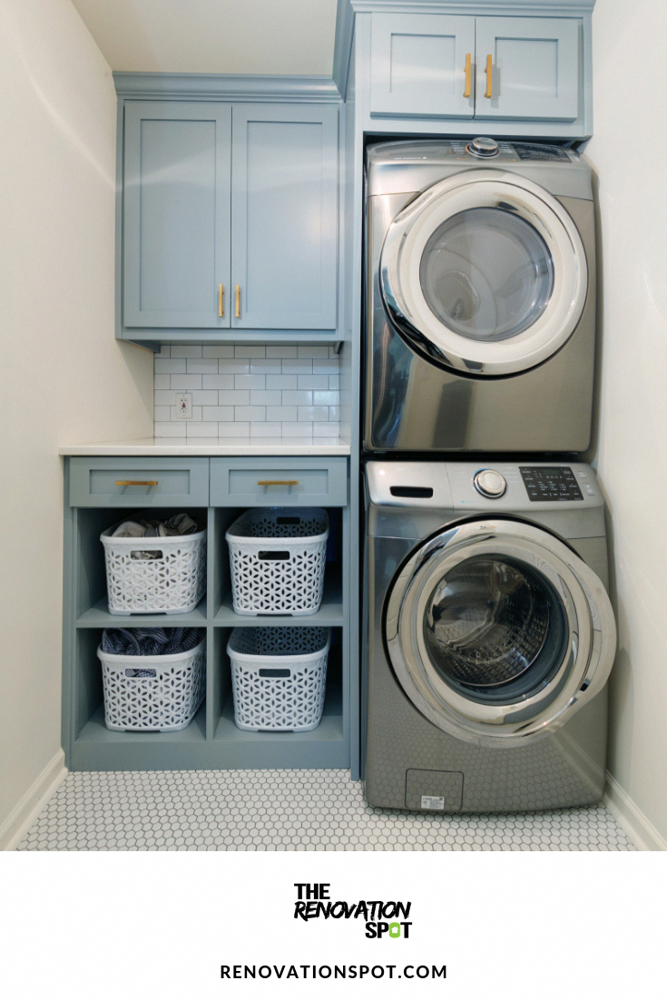 Barfield Run Renovation Spot Excellent Laundry Room Stackable Washer And Dryer Info Is Read Laundry Room Renovation Laundry Room Closet Grey Laundry Rooms