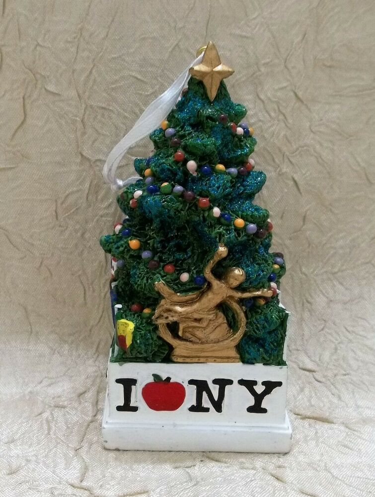 Resin Christmas Ornaments.Rockefeller Center Christmas Tree Resin Christmas Ornament
