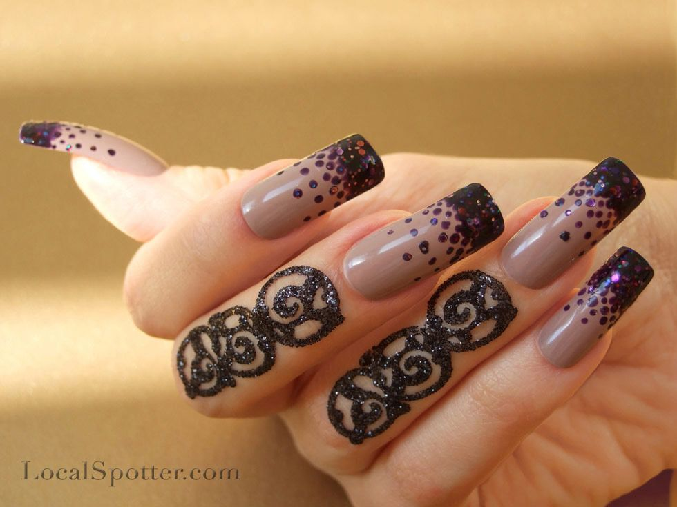DIY Fall Nails 2012 Darkness & Gothic Trend - created with Deborah ...