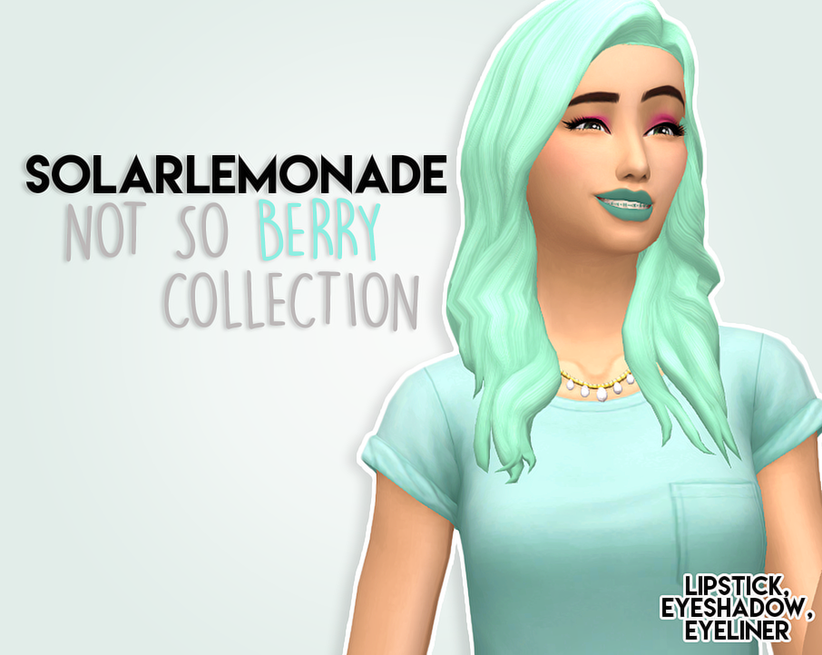 Not So Berry Make Up Collection Sims 4 CC Maxis Match | Sims