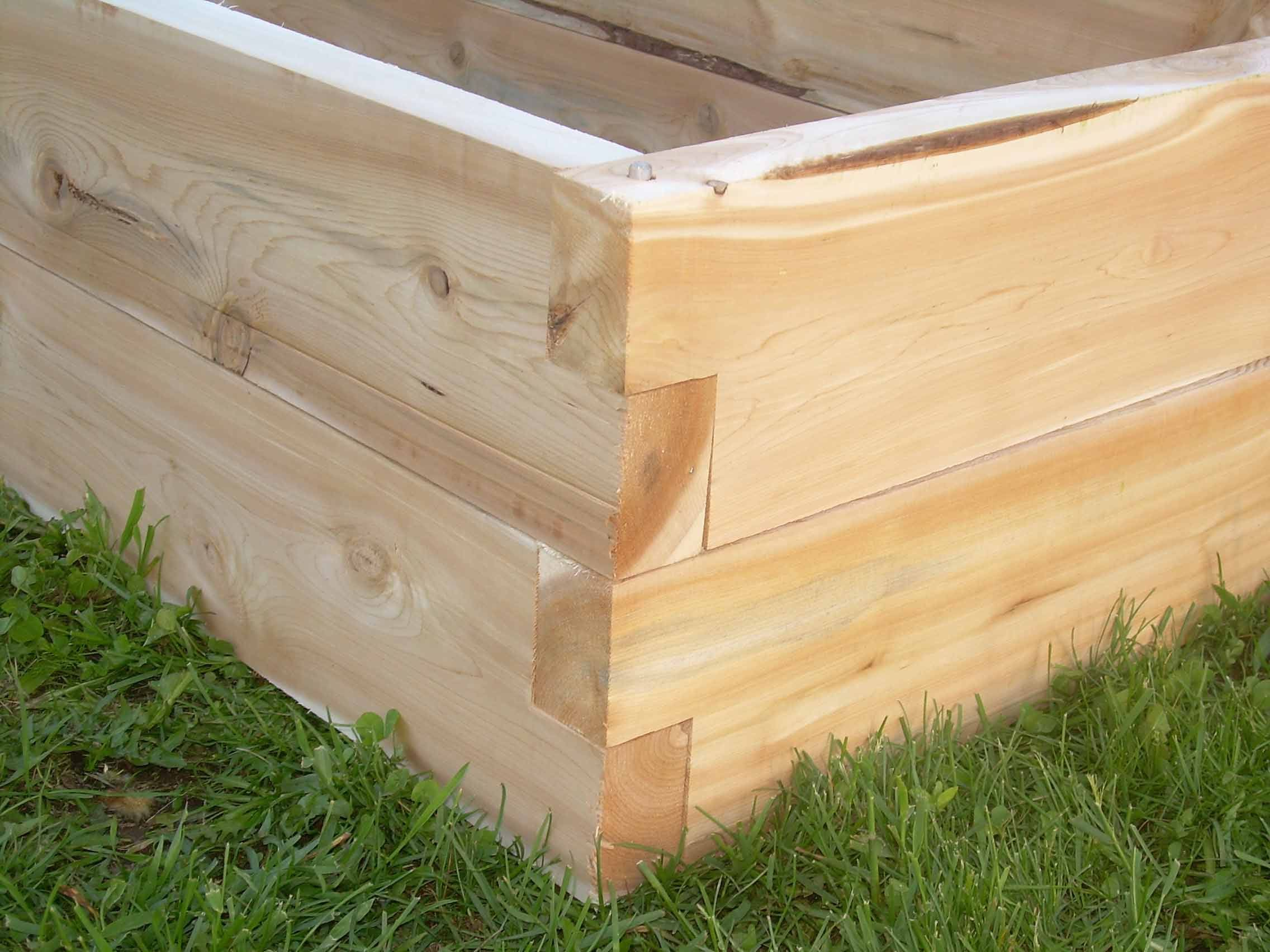 Raised garden bed Vermont Cedar Products Garden tiered raised – Tiered Raised Garden Bed Plans