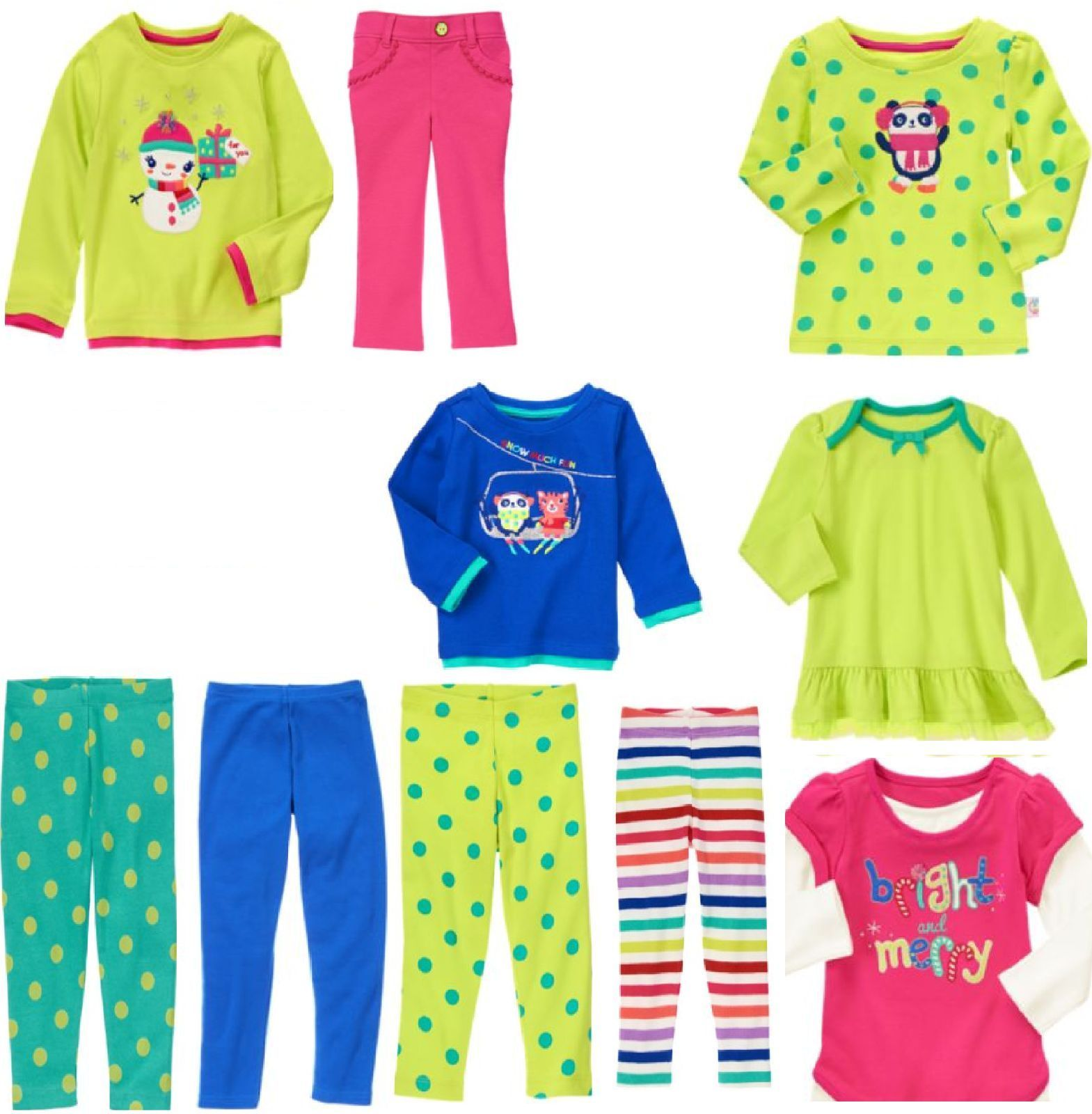 NWT GYMBOREE Girls Outfit Shirt and Leggings Size 3T