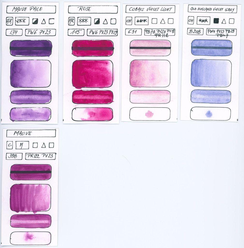 Les Pigments Violets A L Aquarelle Aquarelle Aquarellistes Et