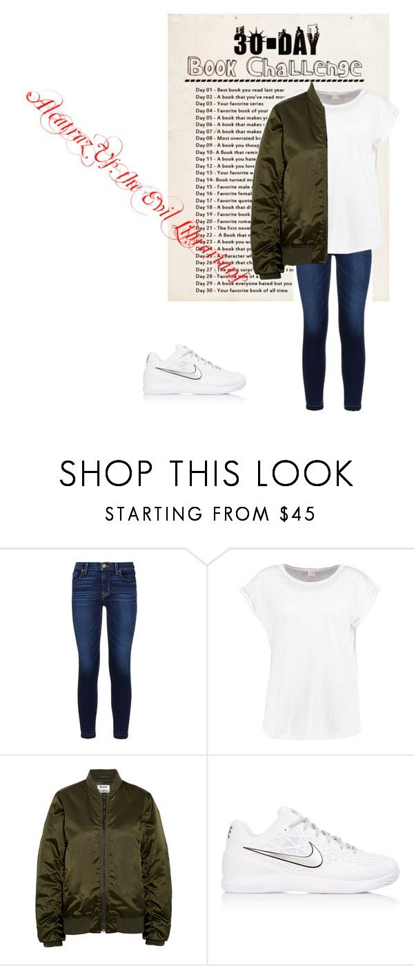 """Day Three: Alcatraz Vs. The Evil Librarians"" by caple-j ❤ liked on Polyvore featuring Hudson, Acne Studios and NIKE"
