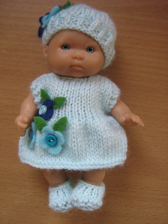 Knitting Pattern For 5 Berenguer Dolls Clothes Knitting Patterns