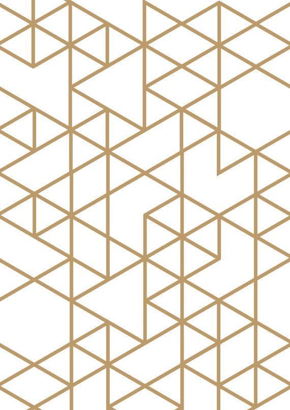 Triangle print gold triangle geometric print geometric for Cool wall patterns