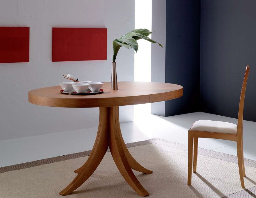 Mesa lacada en blanco y extensible para comedor Cristales en ...