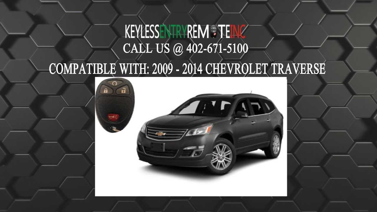 How To Replace Chevrolet Traverse Key Fob Battery 2009 2014 Chevrolet Traverse Car Key Fob