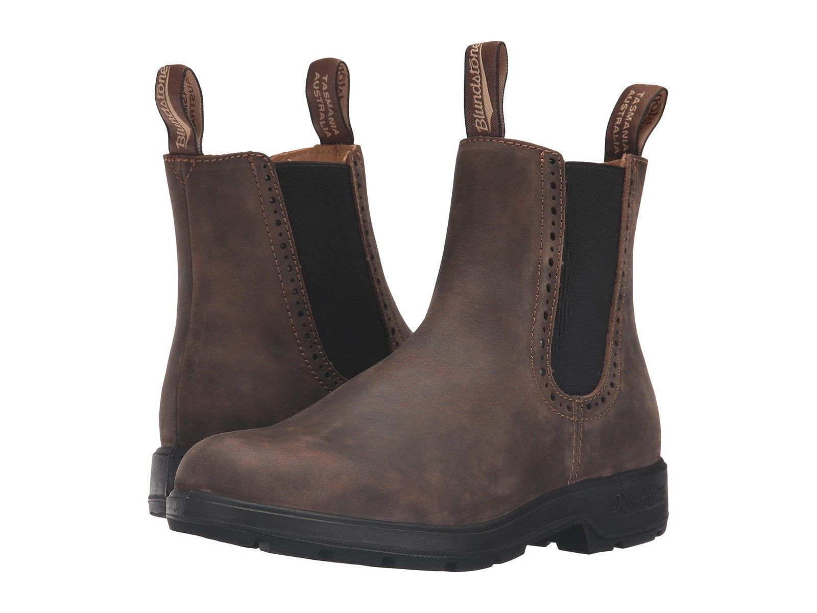 c2b9218017e5 Blundstone Women S Rustic Brown Premium Leather Casual Pull-On Boots 1351