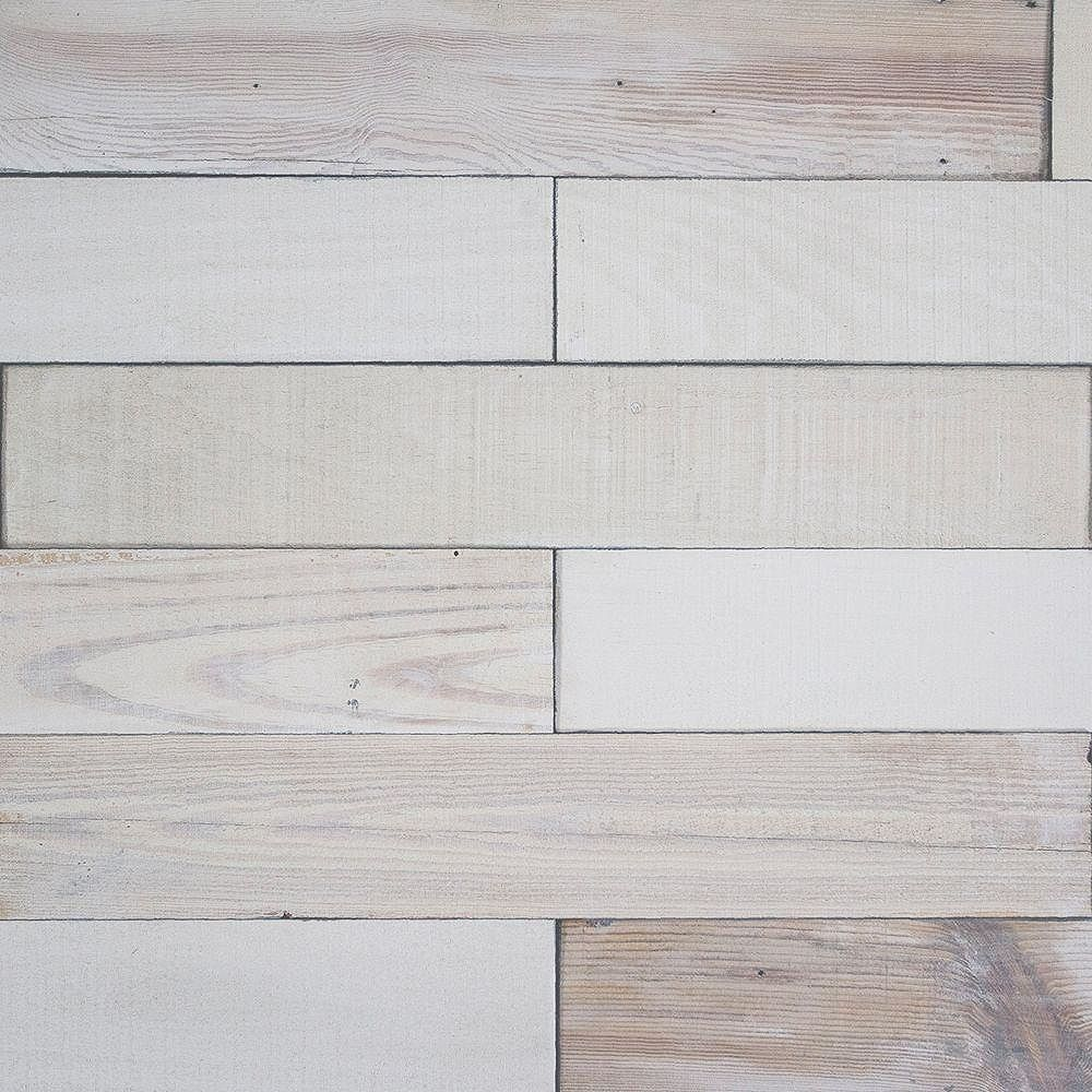 Deco Planks Light House White Washed 1/2 in. x 4 in. Wide x 24 in ...
