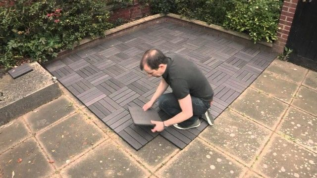 Wood Deck Tiles Over Concrete Patio Tiles Patio Flooring Deck