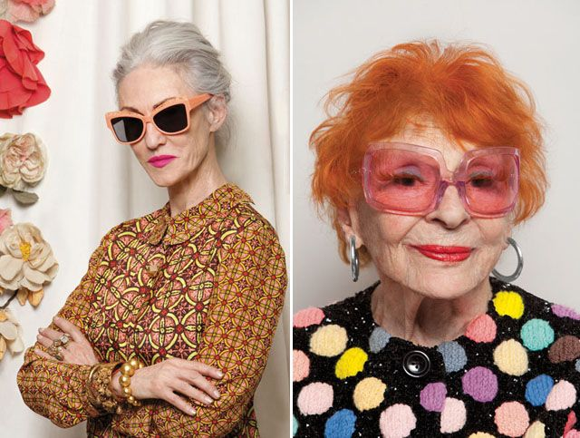 """f31dc3b90 """"Whether your 22 or 92, age is no barrier to fabulous personal style."""" Karen  Walker summer 2013 campaign Forever."""