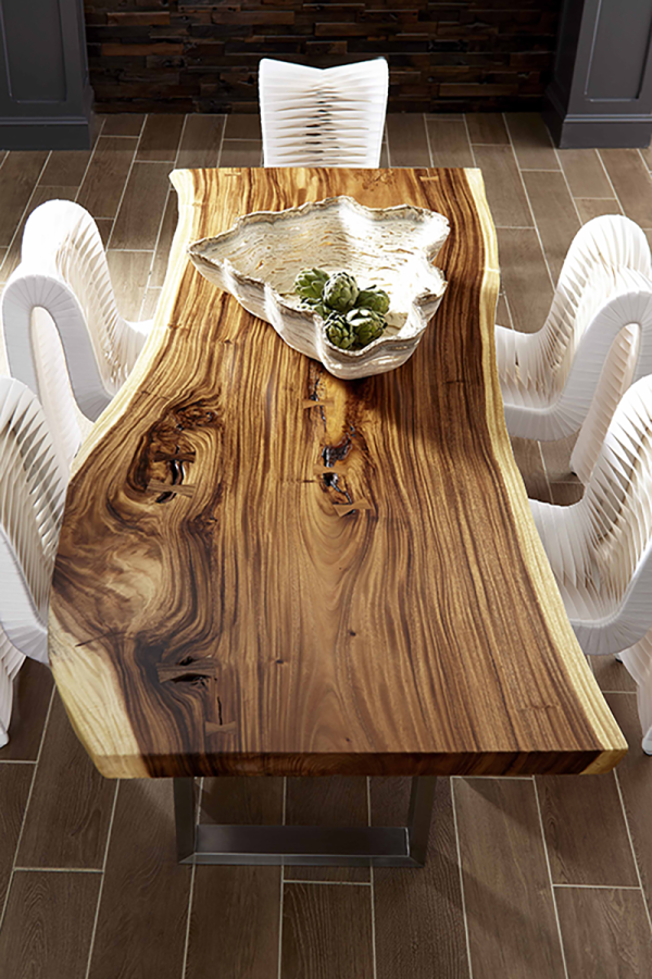 Tables Arca Dining Table Suar Wood Live Edge Dining Table Contemporary Dining Table Contemporary Dining Table Design