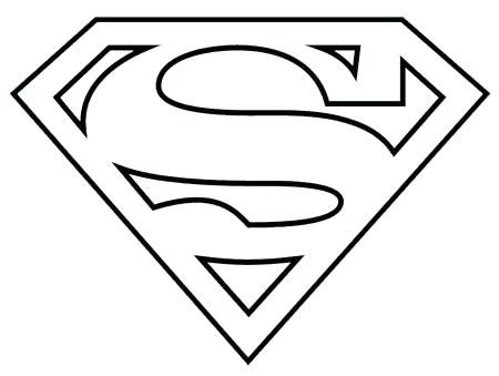 Logo De Superman Para Colorear Superman Coloring Pages