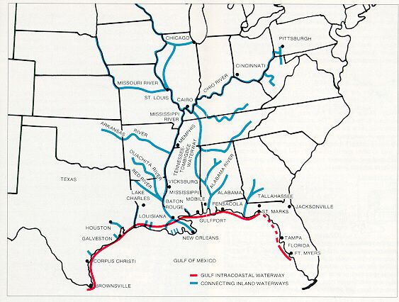 Image result for Gulf Intracoastal Waterway Map Route | Kat ...