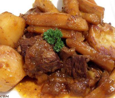 Dans la cuisine de Blanc-manger Boeuf braisé au vin rouge, au miel