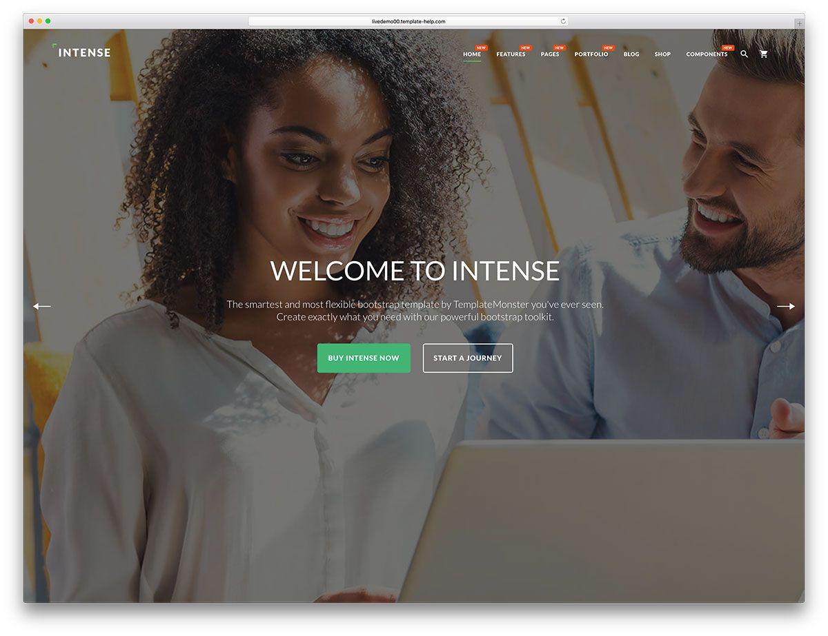 intense-multipurpose-html-site-template | Orion Brand | Pinterest ...