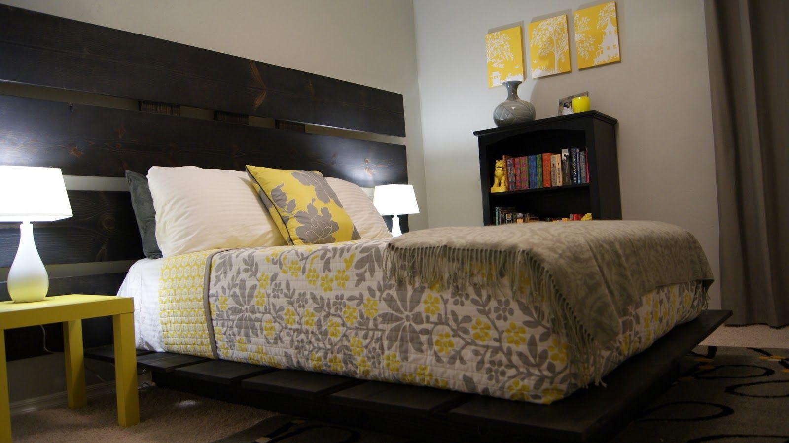 Bedroom decor yellow gray also conception de la maison minimaliste rh in pinterest