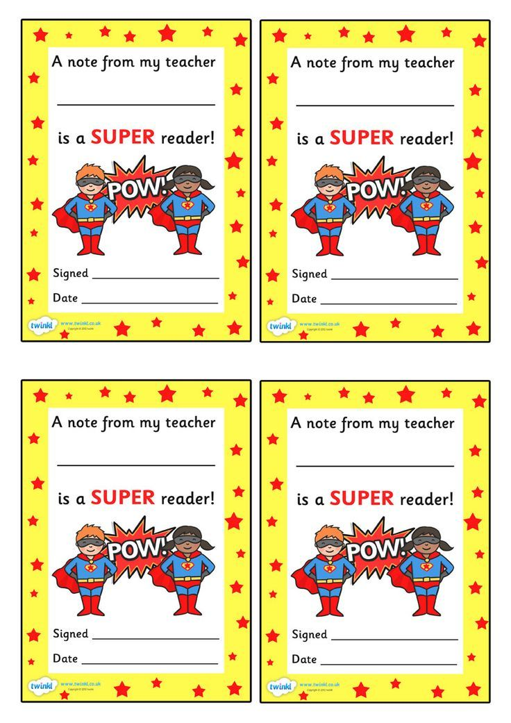 Note From Teacher Super Reader Free Printable March Pinterest - new preschool certificate templates free