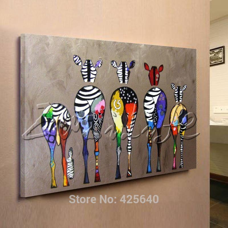 Zbre Pop Art Peintures  LHuile Toile Peinte  La Main Andy Warhol