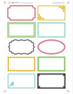 Printable labels from etichette for Planner cucina gratis