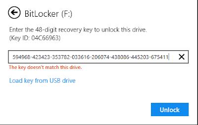 مشكلة عدم فتح القرص باستخام Bitlocker ومشكلة مفتاح الاسترداد لا يعمل Usb Drive Usb Unlock