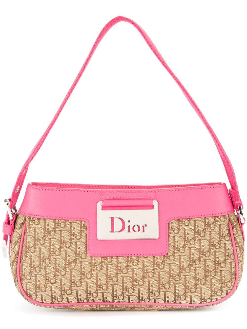 Christian Dior Vintage Trotter hand bag Pink