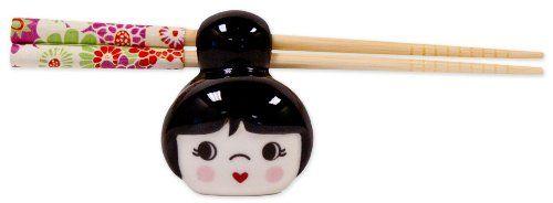 Talisman Designs Cutie Pie Chopstick HolderRest Black