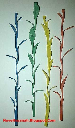 cara membuat bunga rumput dari sedotan plastik