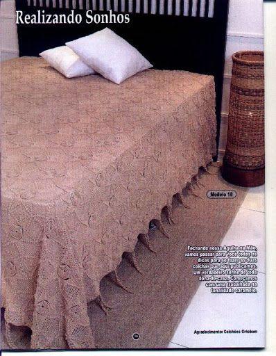 Crochet Knitting Handicraft: Bed sheets | ПОКРЫВАЛА. | Pinterest