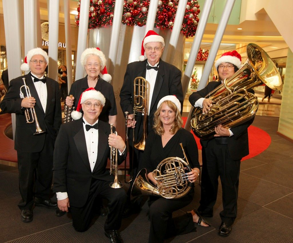 Sounding Brass performs at Galleria Dallas