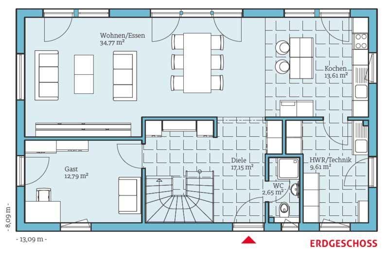 Energiesparhaus Vita 180 Haus  Grundrisse Pinterest - maison de 100m2 plan