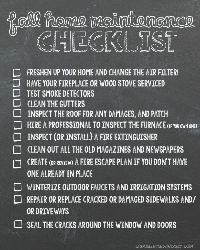 Photo of Checkliste für die Wartung zu Hause im Herbst Druckversion #HealthierHome