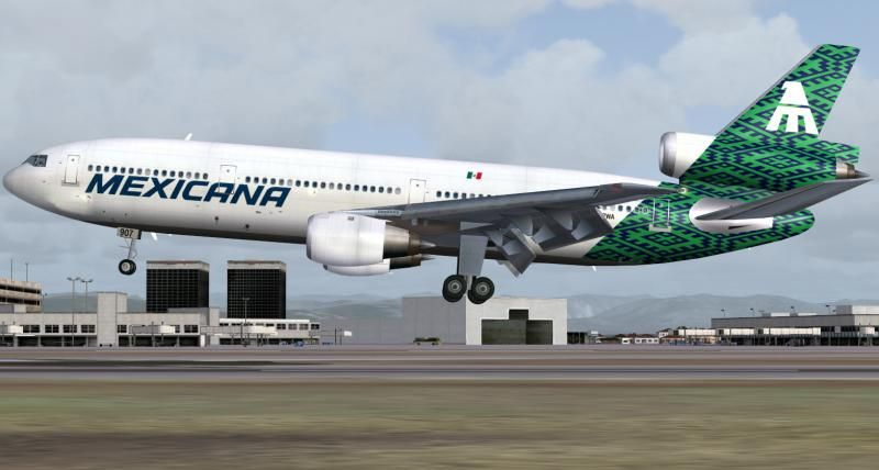 """Mexicana DC10 -10 !5 N907WA """"Ixtlán"""" US Registered... Western Airlines lease @1992"""
