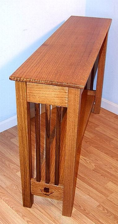 Console Hall Sofa Table Quarter Sawn Oak Walnut Mission Arts Crafts  Inspired Made in USA