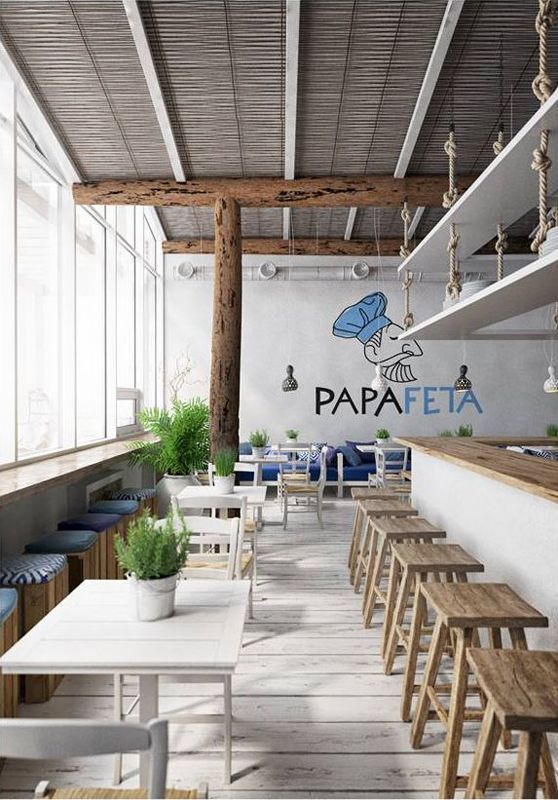 Kiev Papa Feta Greek Restaurant Healthy Restaurant Design Cafe