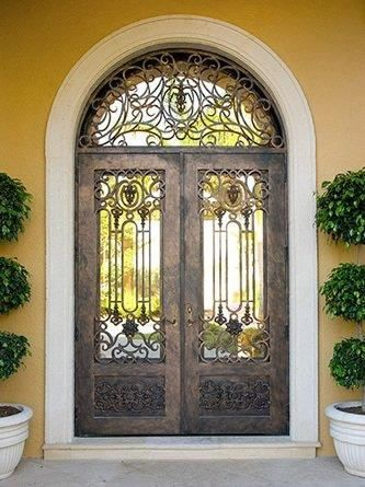Lerida 106 Wrought Iron Doors Windows Gates Railings From Cantera Doors Wrought Iron Doors Iron Doors Wrought Iron Doors Front Entrances