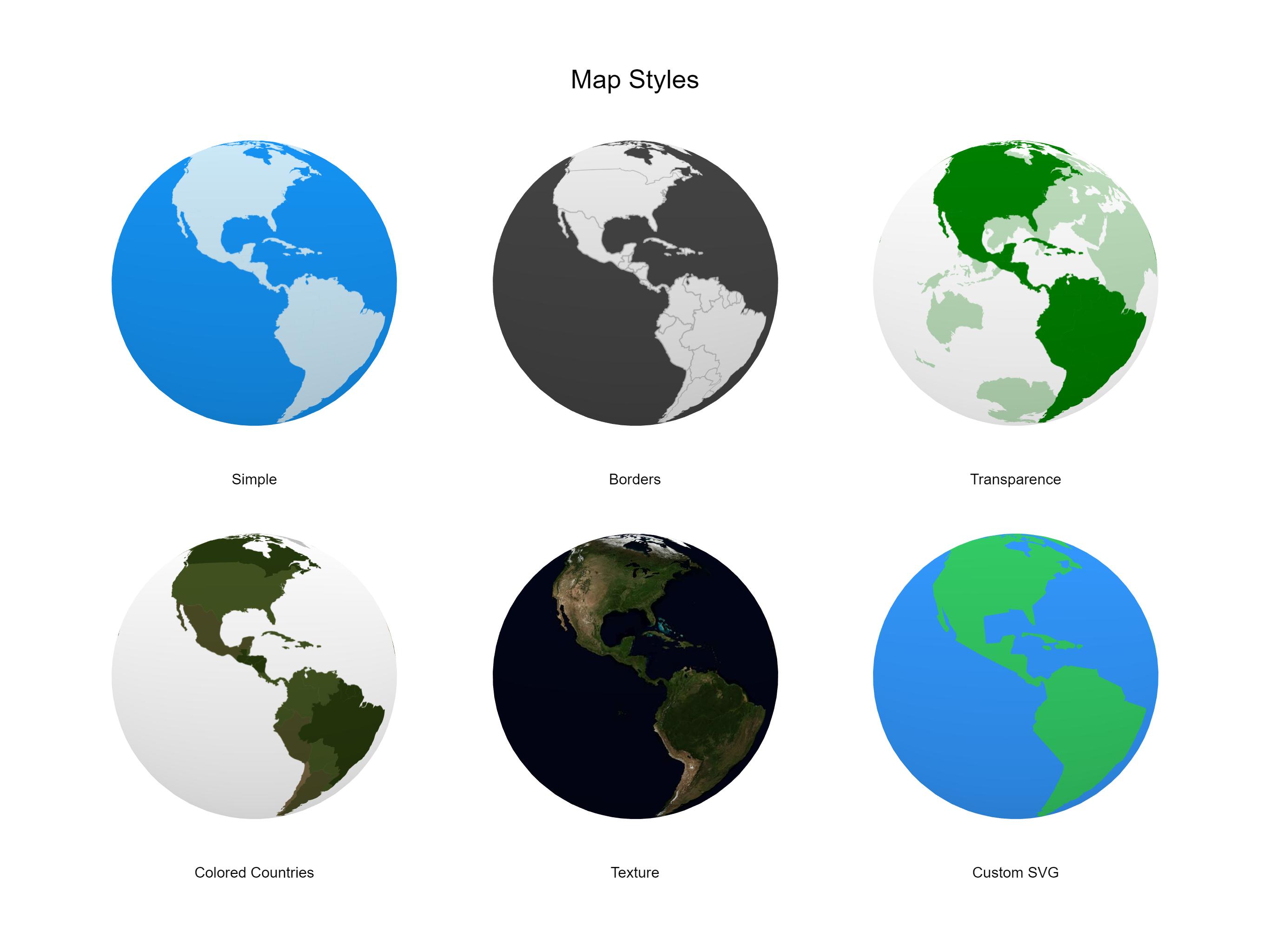 Miniature Earth   Interactive 3D Globe for JavaScript
