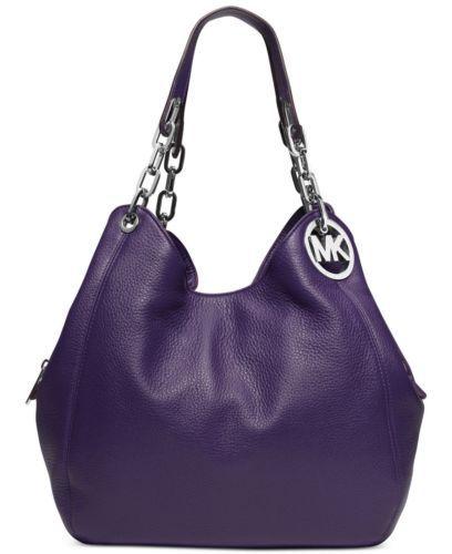 d5fb314dad NWT-Michael-Kors-Fulton-Large-Leather-Shoulder-Tote-IRIS-Violet ...
