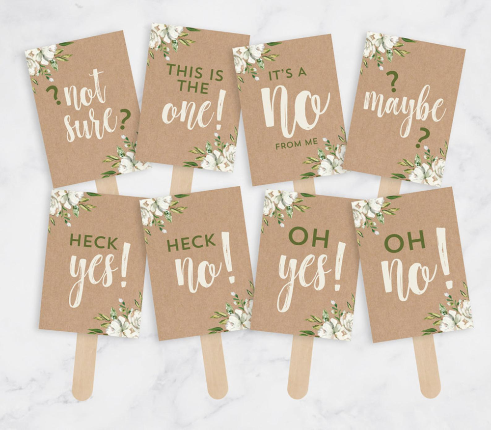 Photo of Printable Say Yes To The Dress Signs – Wedding Dress Shopping Signs – Wedding Dress Shopping Props – Instant Download PDF – Kraft Paper
