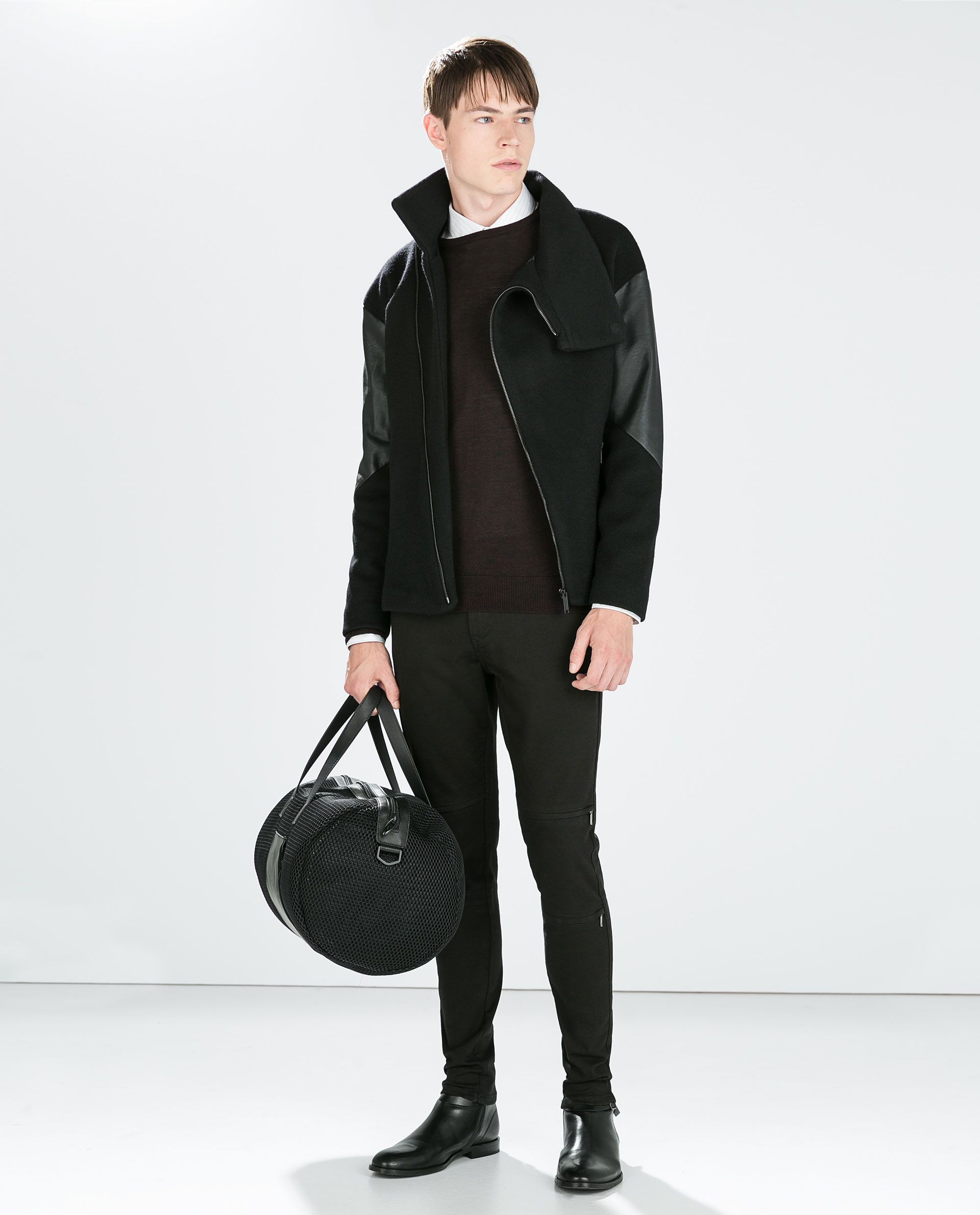 Image 1 of ZIPPED BIKER JACKET from Zara Next clothes