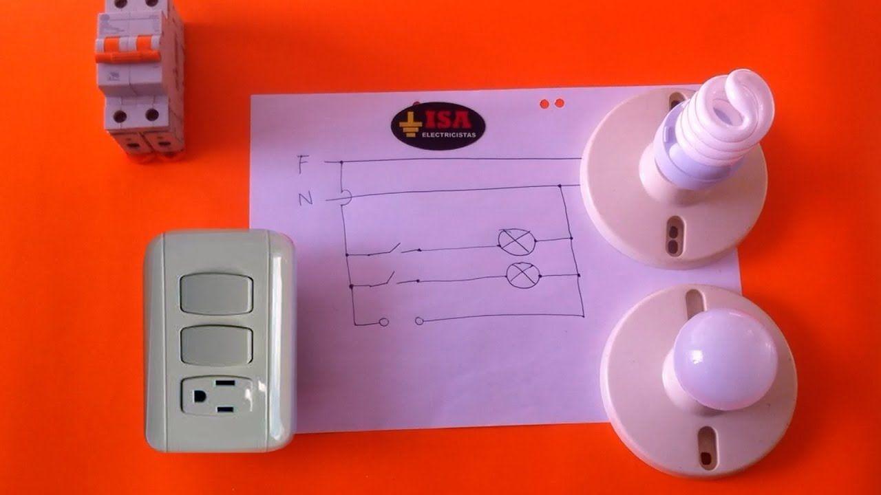 Como Instalar Dos Interruptores Y Una Toma Electrica Youtube Conexiones Electricas Instalacion Electrica Instalacion Electrica