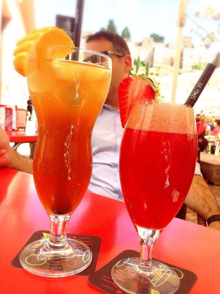 Ice Tea de Mandarina y Limón y Zumo de Fresa natural con Limón, en #ElPimpi