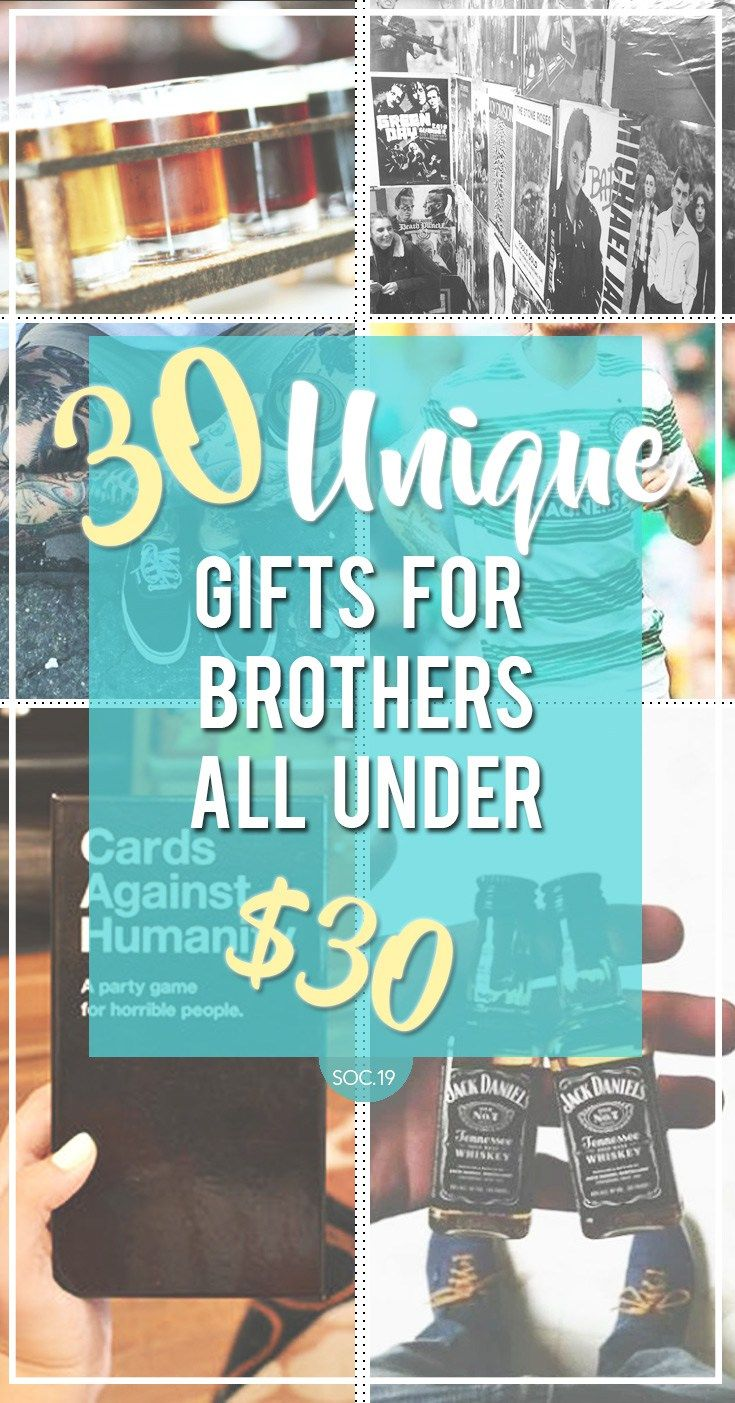 30 Unique Gifts For Your Brother All Under $30 | Christmas ...