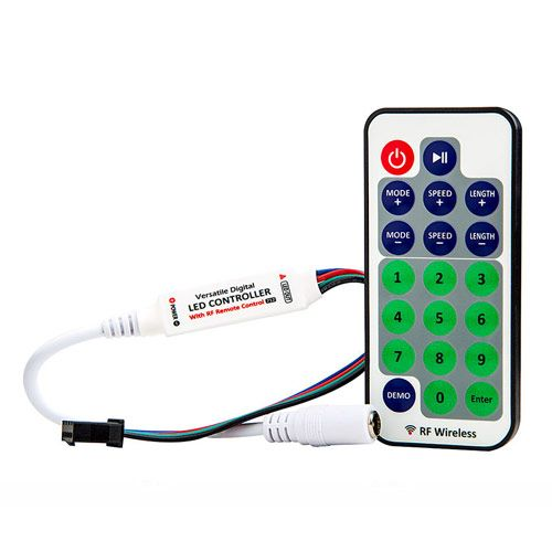 C9 Rf Remote Controller Dc 12v 11 Keys Mini Dimmer For Led Single Color Strip 5050 3528 Home Lighting Led Controller Light Accessories Remote