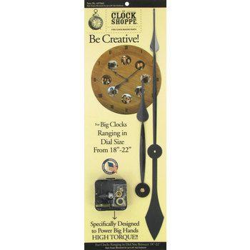 High Torque Movement Clock Hands & Dial | DIY furniture/wood | Large