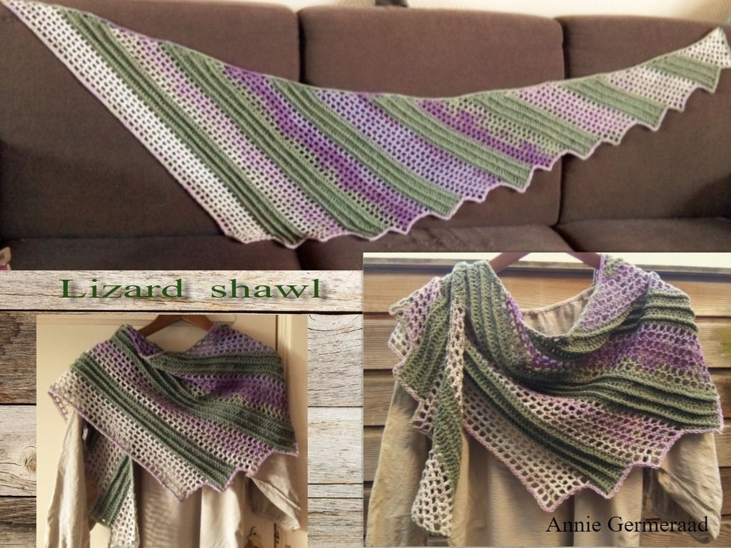 Nl beschrijving van de lizard shawl van jasmin rsnen origineel nl beschrijving van de lizard shawl van jasmin rsnen origineel te vinden op http crochet shawl patternscowl bankloansurffo Images