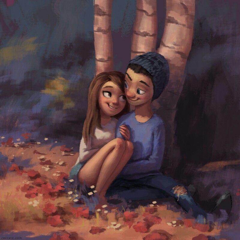 Мультик картинки любовь