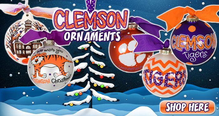 Clemson Ornaments #clemson
